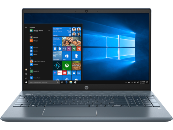 "HP Pavilion Laptop - 15z touch [Windows 10 Home 64, AMD Ryzen™ 5 processor, AMD Radeon™ Vega 8 Graphics, 16 GB memory; 256 GB SSD storage, 15.6"" diagonal HD touch display]"