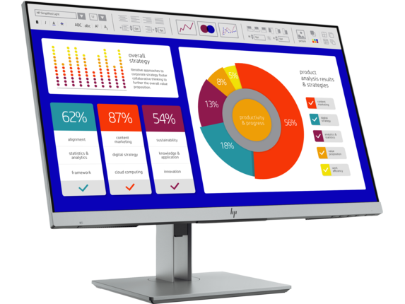 HP EliteDisplay E243p 23.8-inch Sure View Monitor - Right |Asteroid