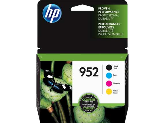 HP 952 4-pack Black/Cyan/Magenta/Yellow Original Ink Cartridges
