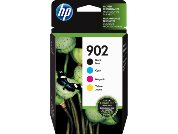 HP 902 4-pack Black/Cyan/Magenta/Yellow Original Ink Cartridges