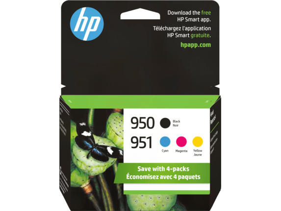 HP 950 Black/951 Cyan/Magenta/Yellow 4-pack Original Ink Cartridges