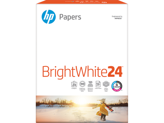 HP Bright White Inkjet Paper-500 sht/Letter/8.5 x 11 in