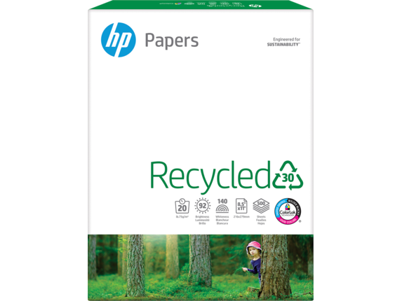 HP Recycled Paper-500 sht/Letter/8.5 x 11 in