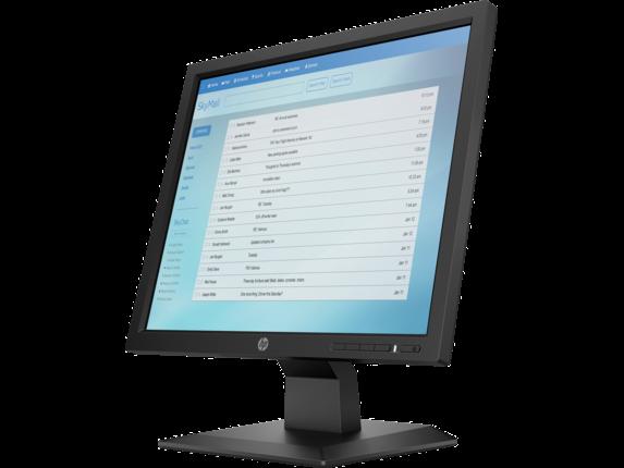 HP P174 17-inch Monitor - Left |Jet Black