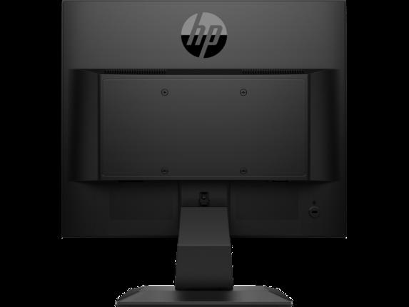 HP P174 17-inch Monitor - Rear |Jet Black