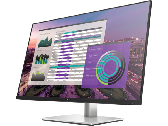 HP EliteDisplay E324q 31.5-inch QHD Monitor - Left |Sparkling Black
