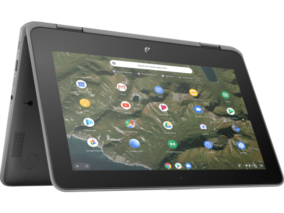 HP Chromebook x360 11 G2 EE Notebook PC - Customizable - Right rear |Storm Grey