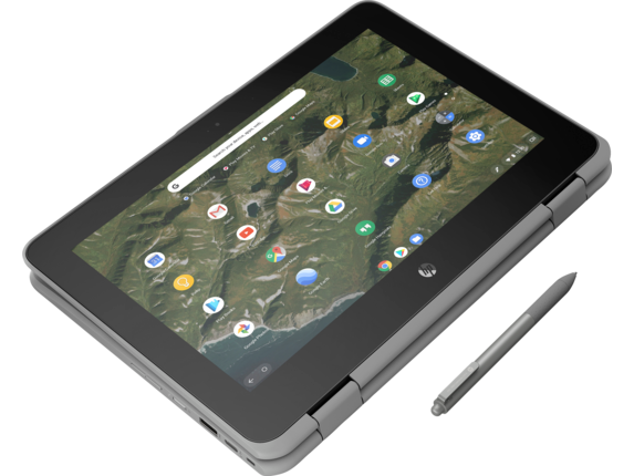 HP Chromebook x360 11 G2 EE Notebook PC - Customizable - Top view closed |Storm Grey