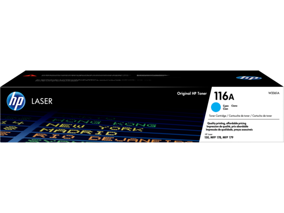 HP 116A Cyan Original Laser Toner Cartridge