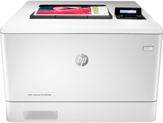 HP Color LaserJet Pro M454dn [Print only, Print speed letter: Up to 28 ppm (black and color), Auto duplex printing; 2 paper trays (standard), Best-in-class security-detect and stop attacks]