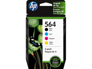 HP 564 4-pack Black/Cyan/Magenta/Yellow Original Ink Cartridges, 3YQ22AN#140