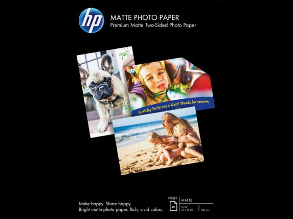 HP Matte Photo Paper-25 sht/ 4 x 6 in