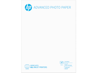 HP Advanced Glossy Photo Paper-25 sht/4 x 6 in borderless