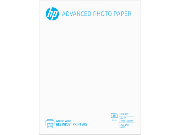 HP Advanced Glossy Photo Paper-25 sht/4 x 6 in borderless - Rear