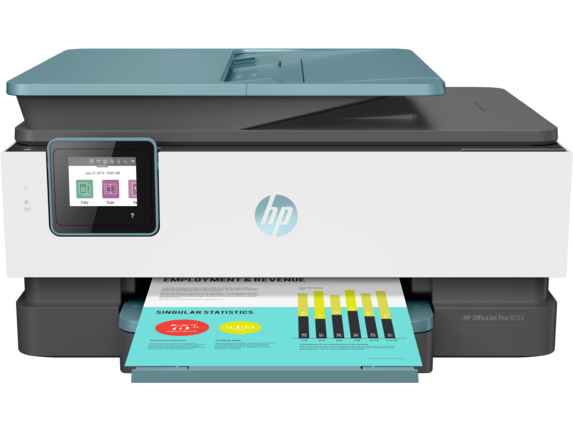HP OfficeJet Pro 8035 All-in-One Printer - Center
