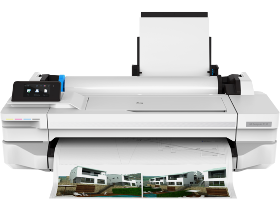 HP DesignJet T130 24-in Printer - Center