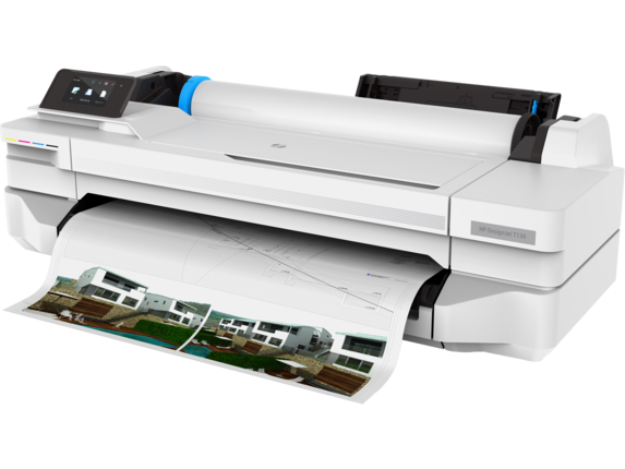 HP DesignJet T130 24-in Printer - Left