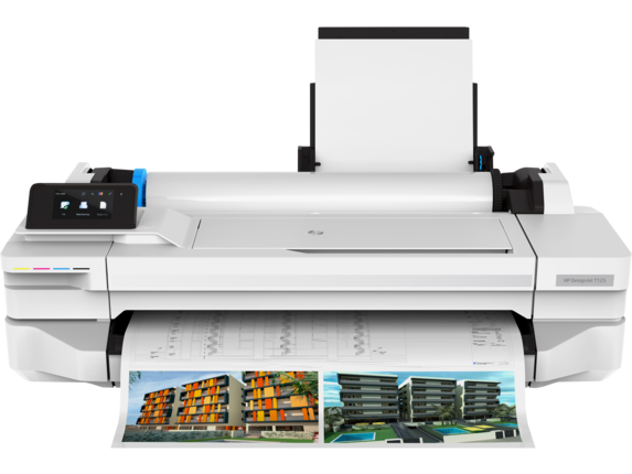 HP DesignJet T125 24-in Printer - Center