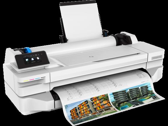 HP DesignJet T125 24-in Printer - Right