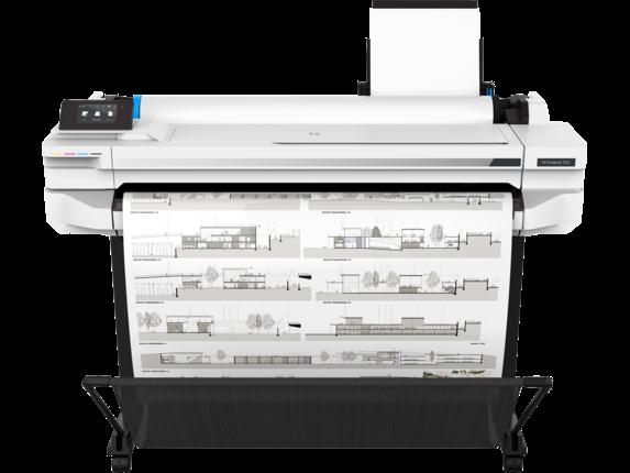 HP DesignJet T525 36-in Printer - Center