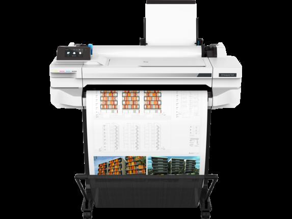 HP DesignJet T525 24-in Printer - Center