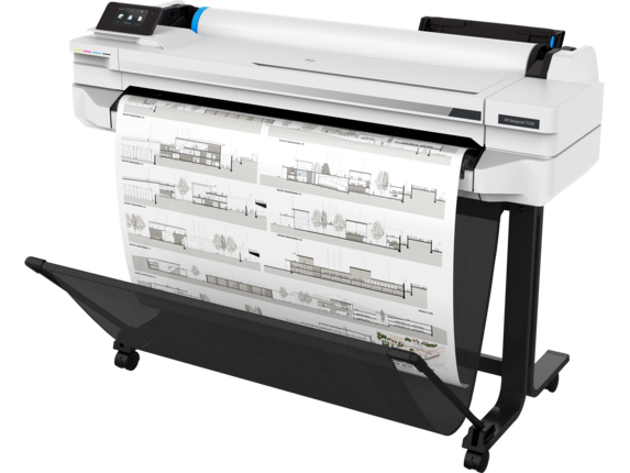 HP DesignJet T530 36-in Printer - Left