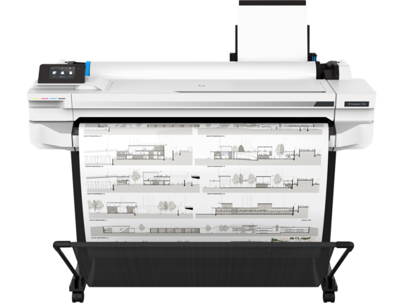 HP DesignJet T530 36-in Printer - Center