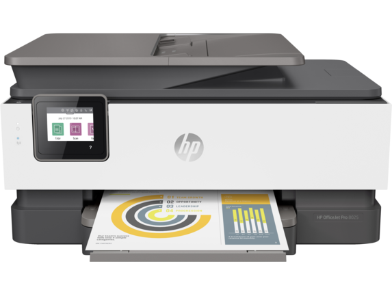 HP OfficeJet Pro 8025 All-in-One Printer - Center