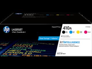 HP 410A 4-pack Black/Cyan/Magenta/Yellow Original LaserJet Toner Cartridges, CF410AQ