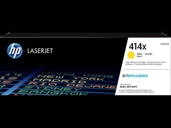 HP 414X High Yield Yellow Original LaserJet Toner Cartridge