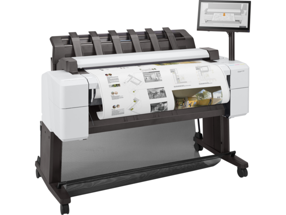 HP DesignJet T2600 36-in PostScript Multifunction Printer - Right