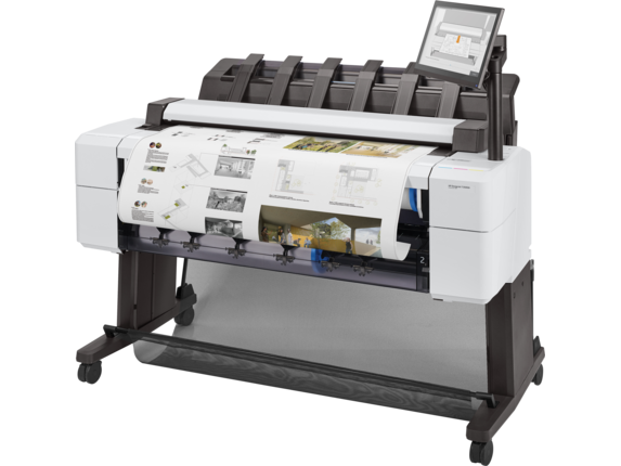 HP DesignJet T2600dr 36-in PostScript Multifunction Printer - Left