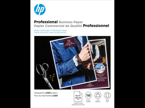 HP Laser Matte Brochure Paper 200 gsm-150 sht/Letter/8.5 x 11 in - Center