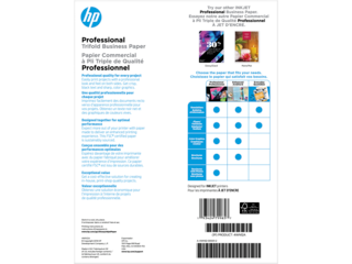 HP Inkjet Glossy Tri-fold Brochure Paper 180 gsm-150 sht/Letter/8.5 x 11 in