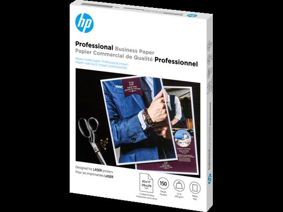HP Laser Matte Brochure Paper 200 gsm-150 sht/Letter/8.5 x 11 in - Left