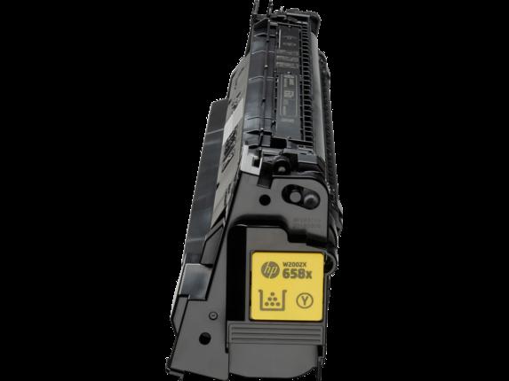 HP 658X High Yield Yellow Original LaserJet Toner Cartridge - Center