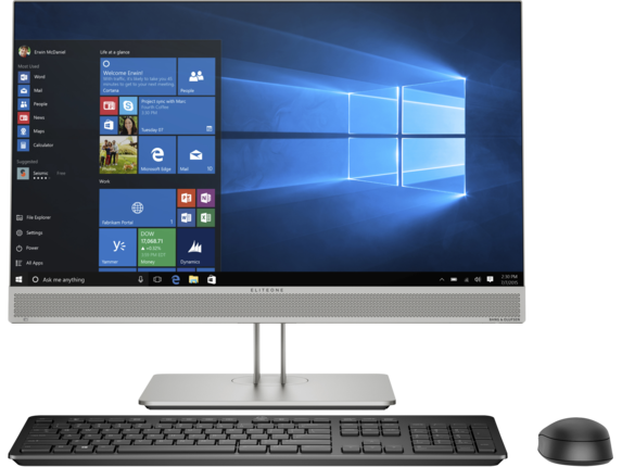 HP EliteOne 800 G5 23.8-in All-In-One PC - Customizable - Center