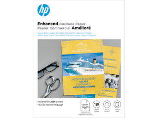 HP Laser Glossy Brochure Paper 150 gsm-150 sht/Letter/8.5 x 11 in