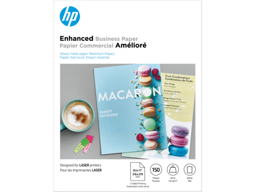 HP Enhanced Laser Matte FSC Paper 150 gsm-150 sht/Letter/8.5 x 11 in