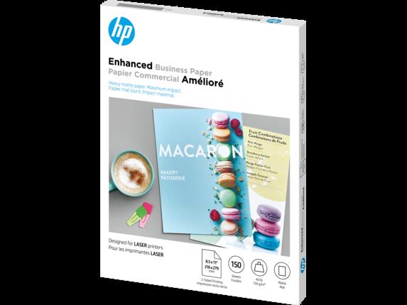 HP Laser Matte Brochure Paper 150 gsm-150 sht/Letter/8.5 x 11 in - Left