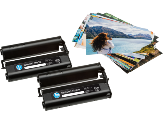 HP Sprocket 4 x 6 in (10 x 15 cm) Photo Paper and Cartridges-80 sheets - Right