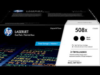 HP 508X 2-pack High Yield Black Original LaserJet Toner Cartridges, CF360XD