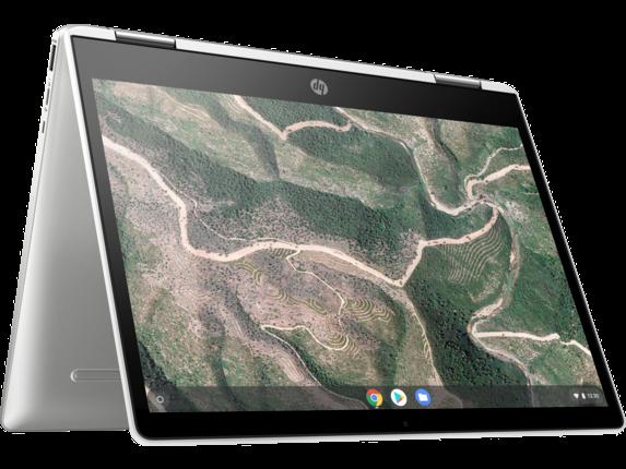 HP Chromebook x360 - 12b-ca0010nr - Right rear
