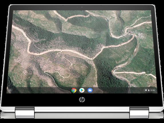 HP Chromebook x360 - 12b-ca0010nr - Right screen center