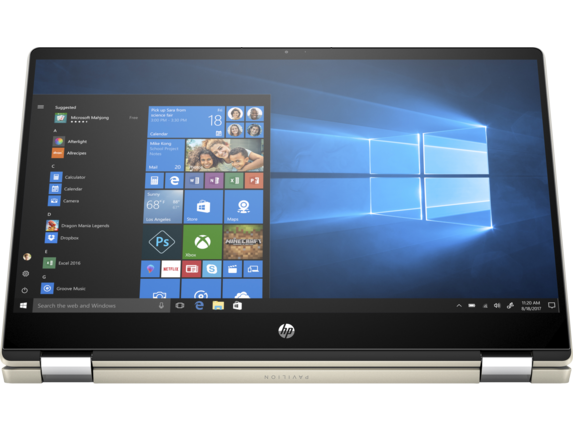 HP Pavilion x360 Laptop - 15t touch - Right screen center
