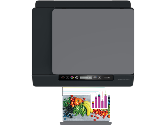 HP Smart Tank Plus 551 Wireless All-in-One - Top view closed