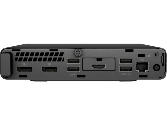 HP EliteDesk 800 G4 Desktop Mini PC - Customizable - Rear