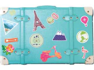 HP Moment Makers 2 x 3-in Suitcase Mini Album, 6RW41A