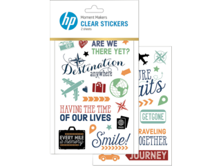 HP Moment Makers Clear Travel Stickers, 6RW46A