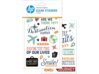 HP Moment Makers Clear Travel Stickers